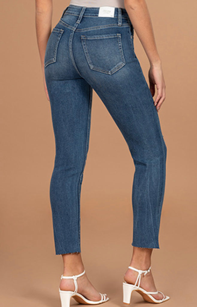 YMI Straight Leg Raw Hem Junior Fit Jeans