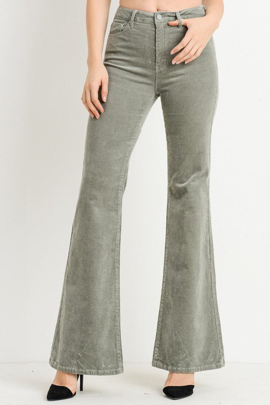 High Waist Corduroy Flare Sale