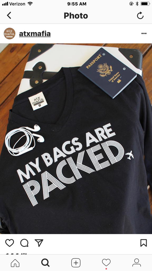 Bags Are Packed V-Neck Tee