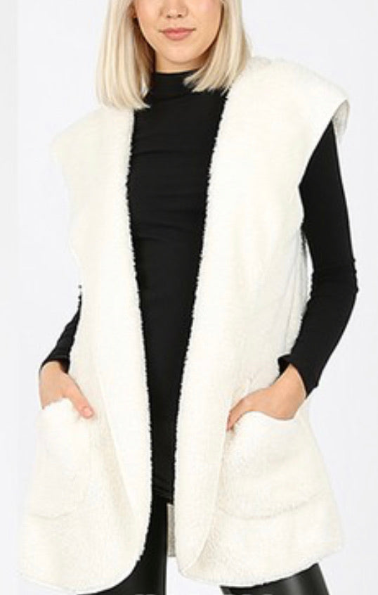 Sherpa Hooded Vest