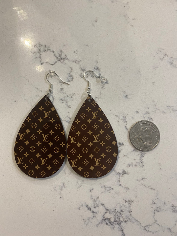 Wooden Teardrop Earrings