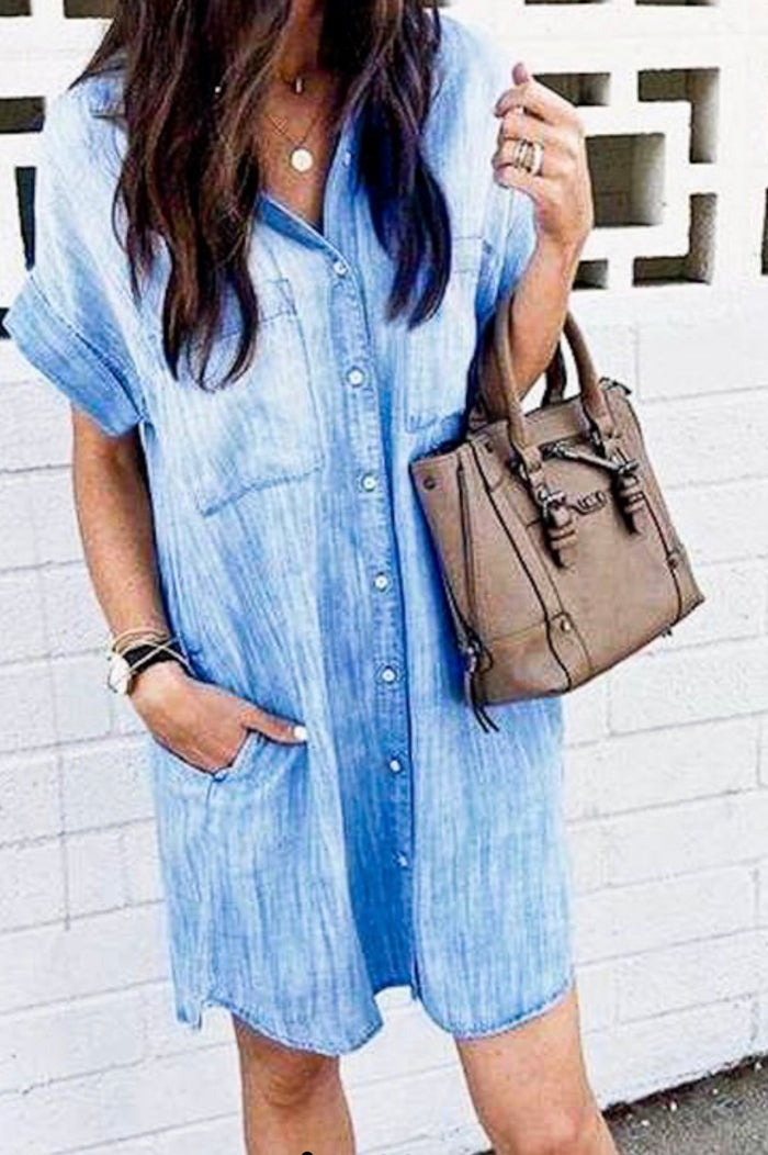 My Favorite Denim Shirt Dress