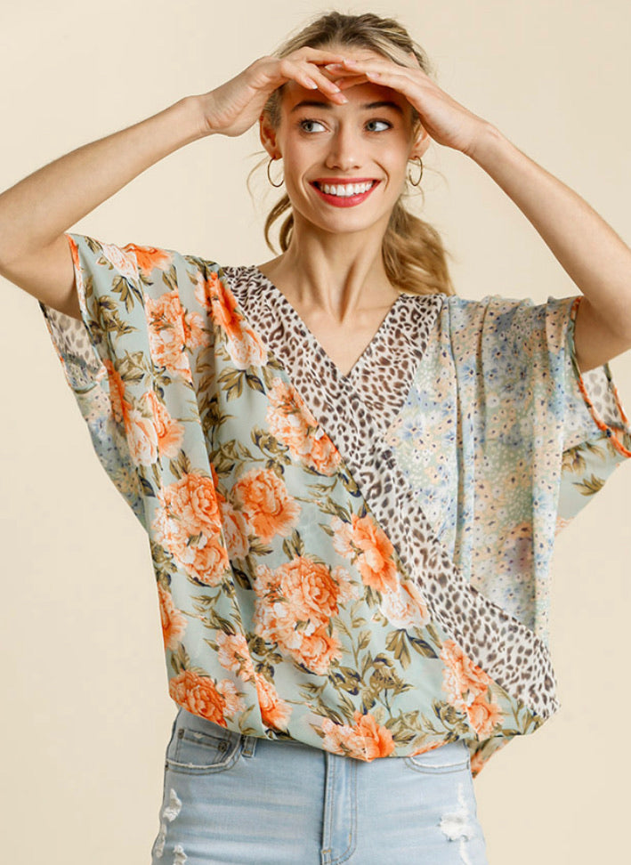 Wrapped in Prints Top - Comes in Curvy Sizes