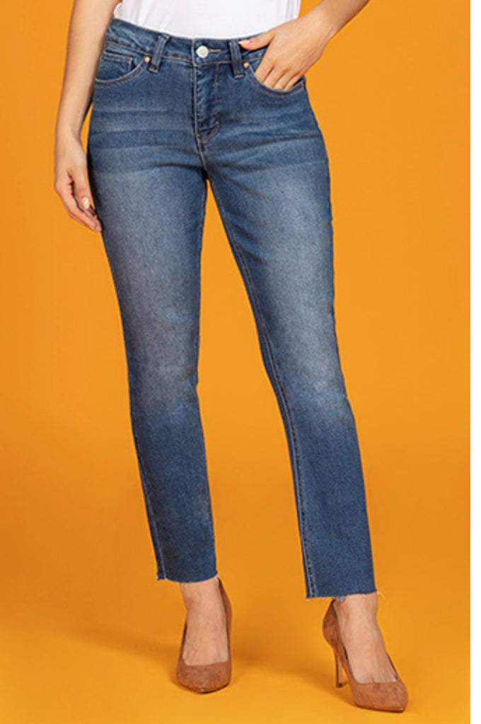 YMI Straight Leg Raw Hem Missy Fit Jeans