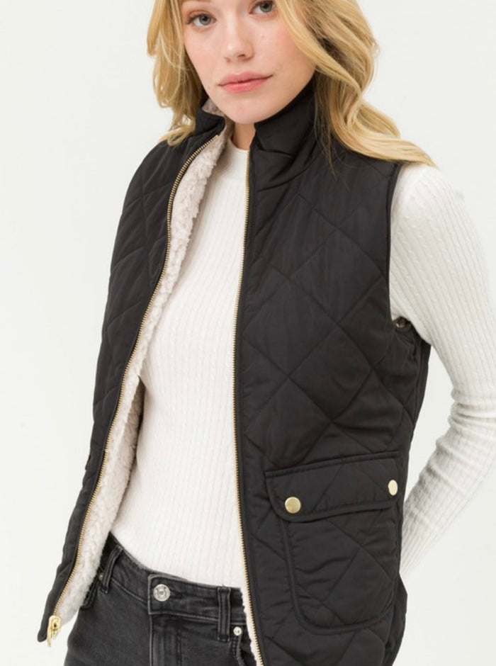 Reversible Diamond Quilted Vest