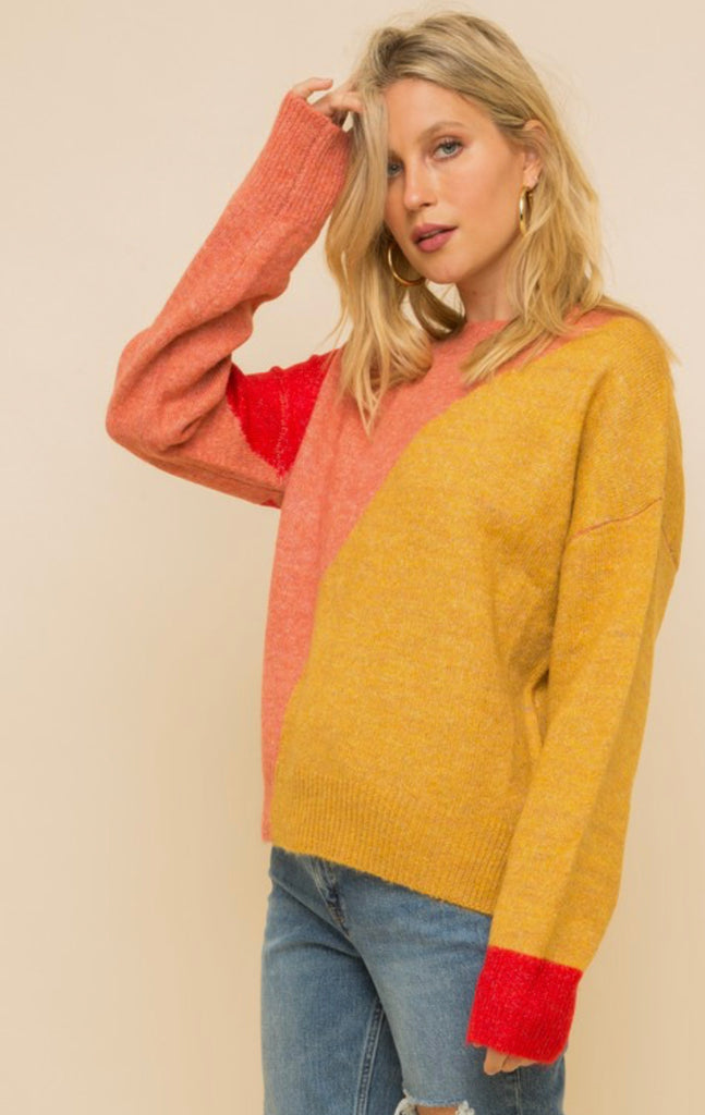Color Block Spice Sweater