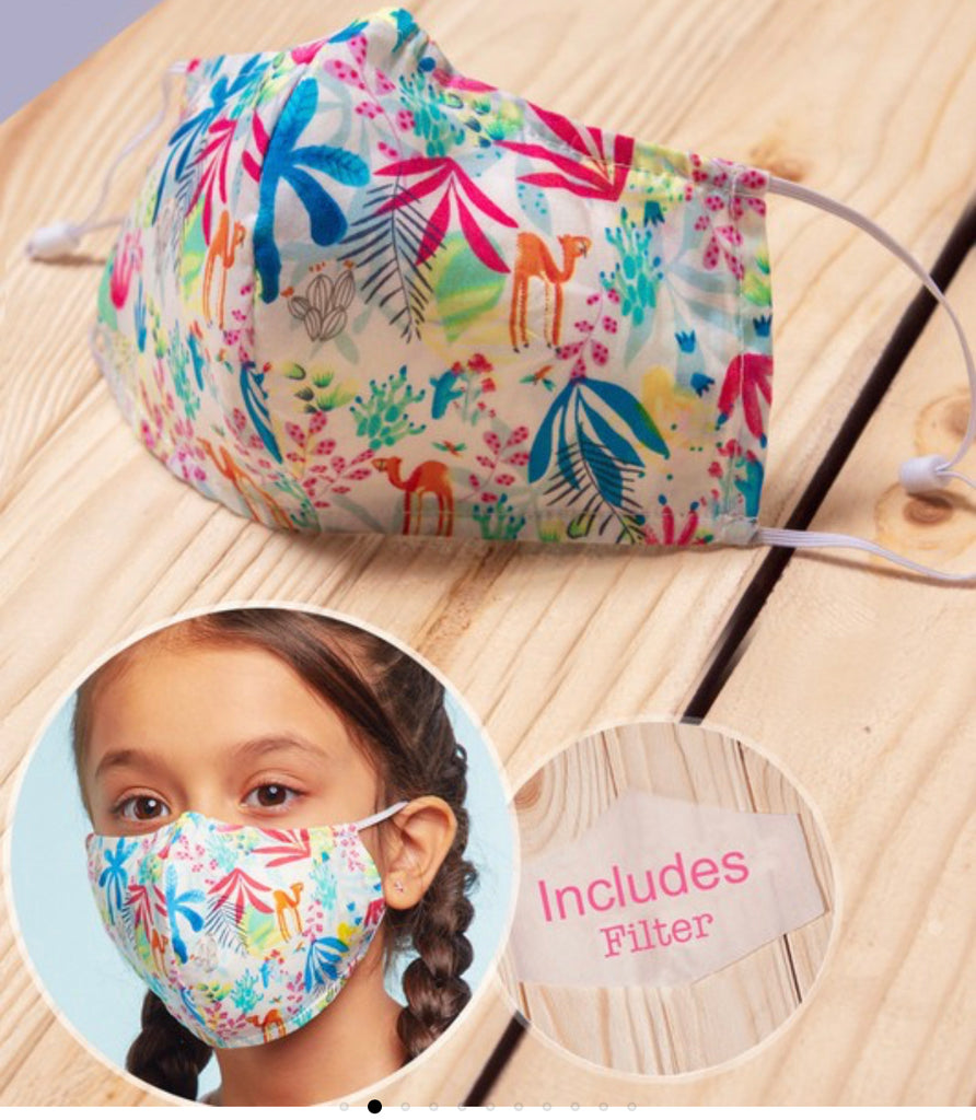Kids Layered Cotton Mask with Filter