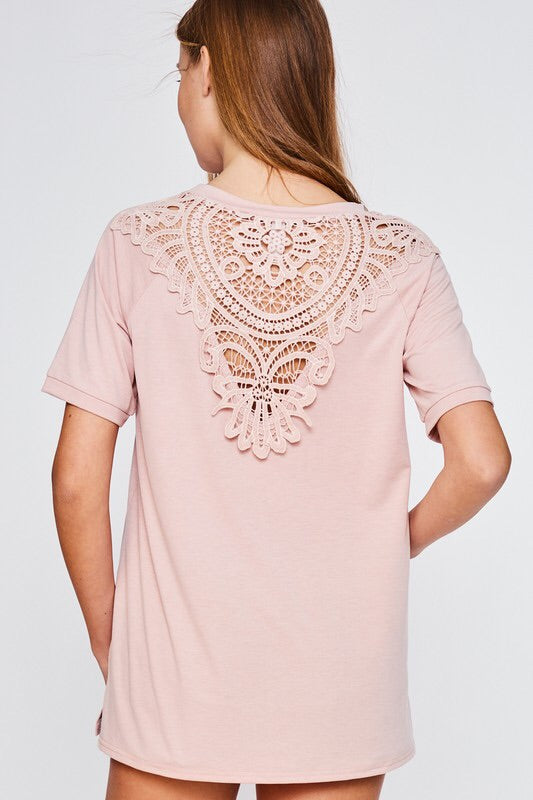 Lace Back Tee