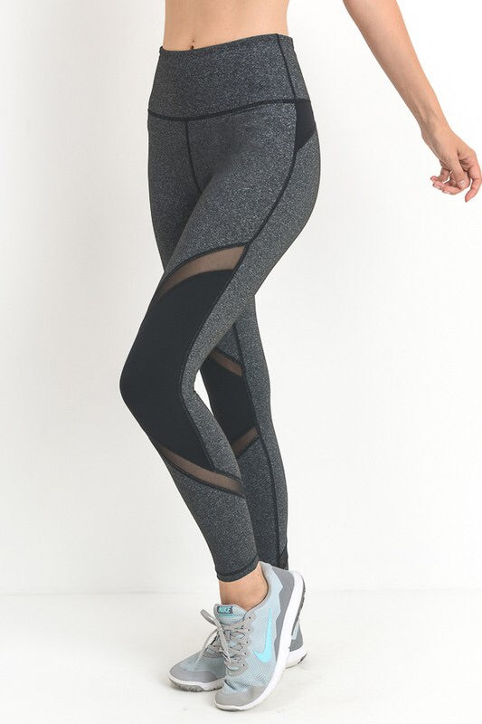 Tummy Control Mesh Leggings