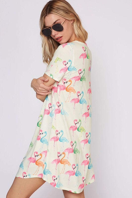 Happy Flamingo Dress