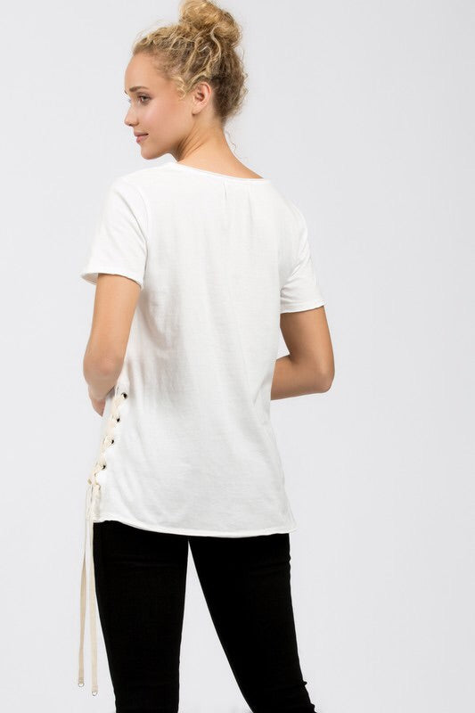 Side Lace Up Tee
