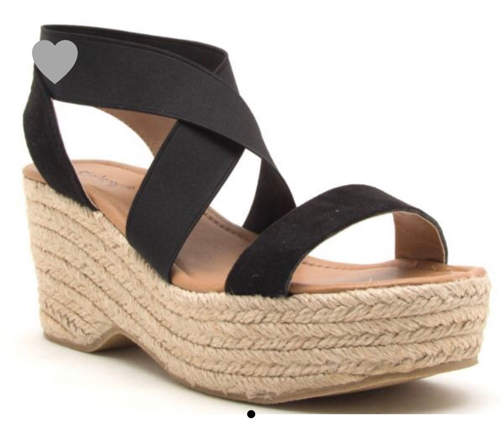 Criss  Cross Espadrille Wedge