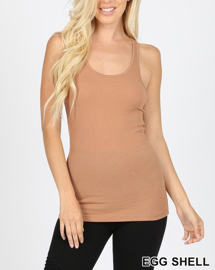 Zeanna Ribbed Tank Sized