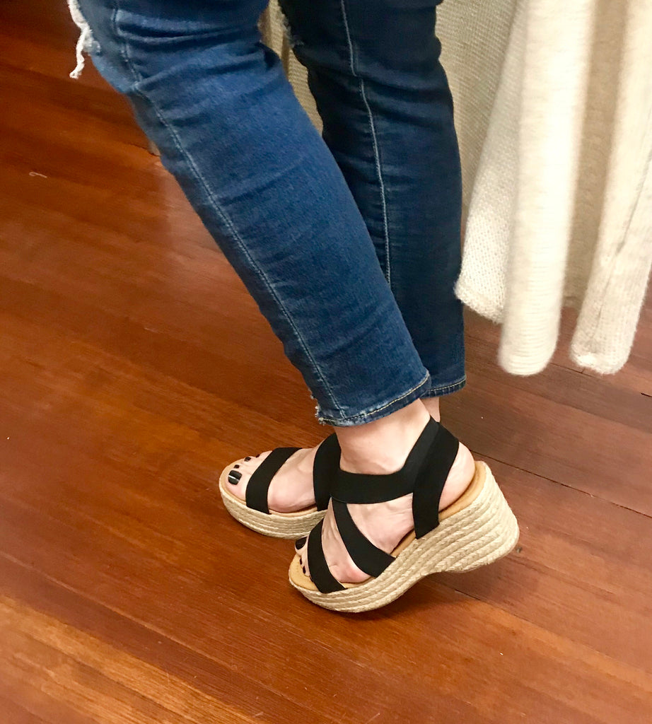 Criss  Cross Espadrille Wedge Sale