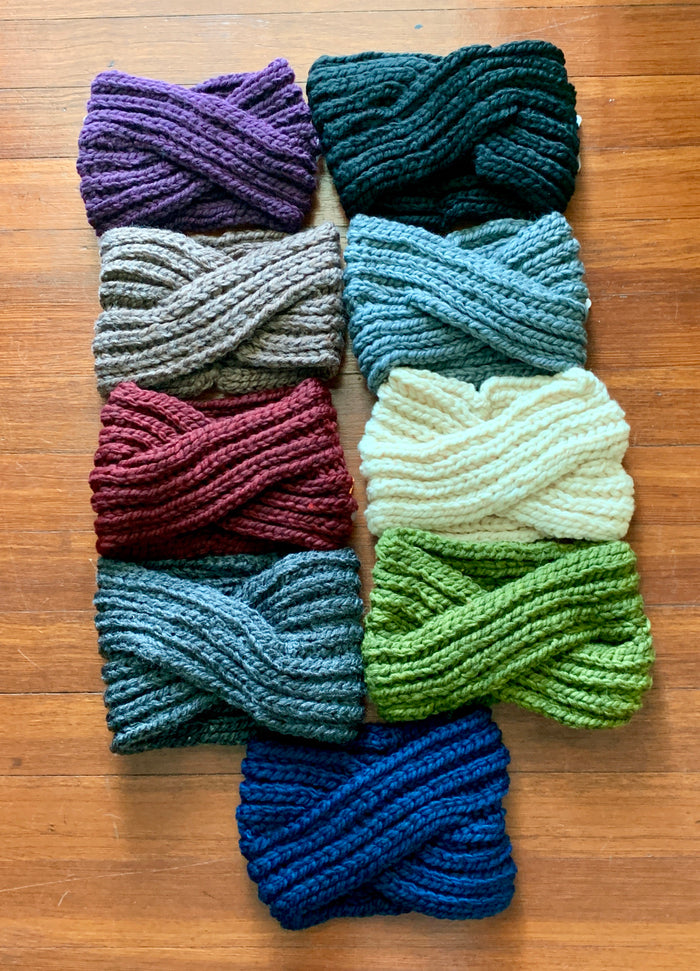 Twisted Knit Cozy Headbands