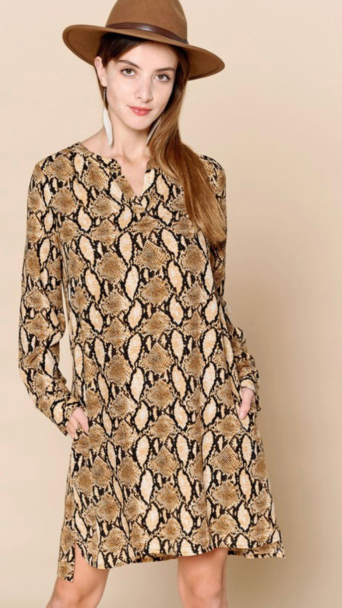 Python Tunic Dress- Curvy
