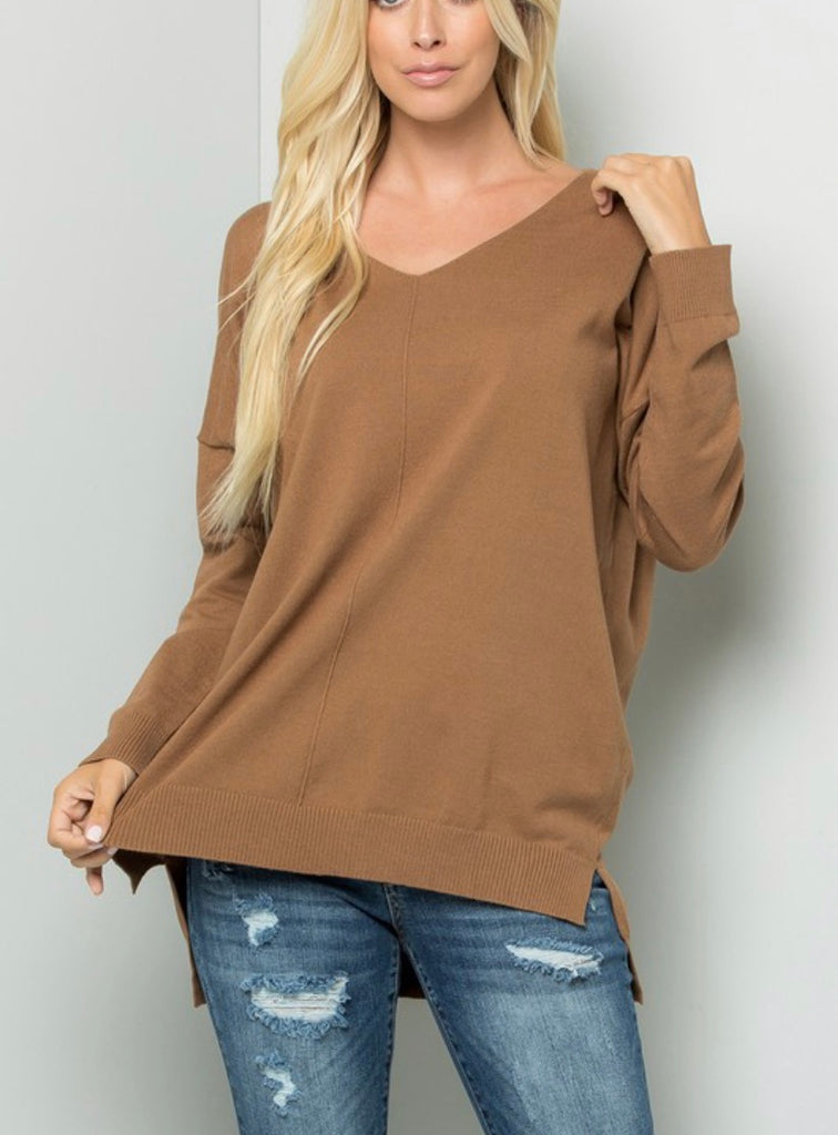 My Favorite V-Neck Sweater + Curvy