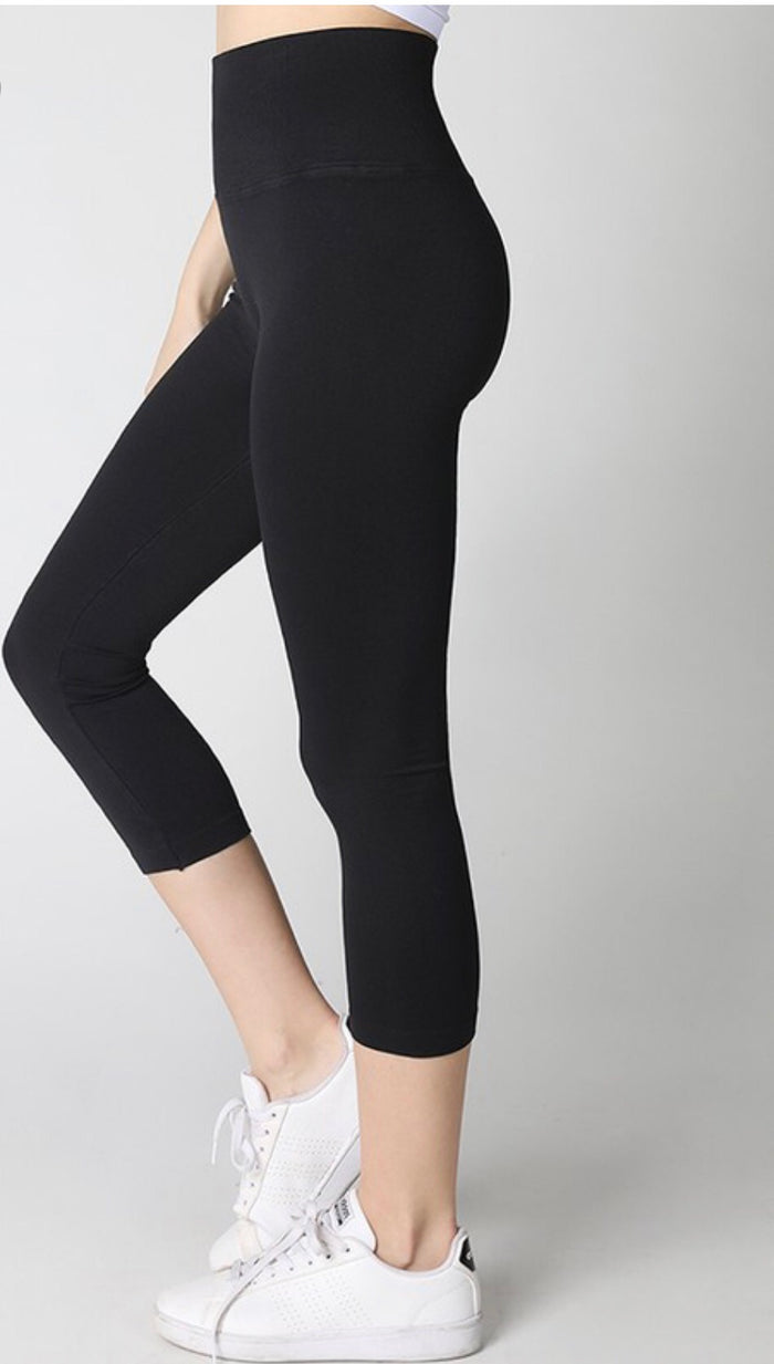 High Waist  Capri Leggings