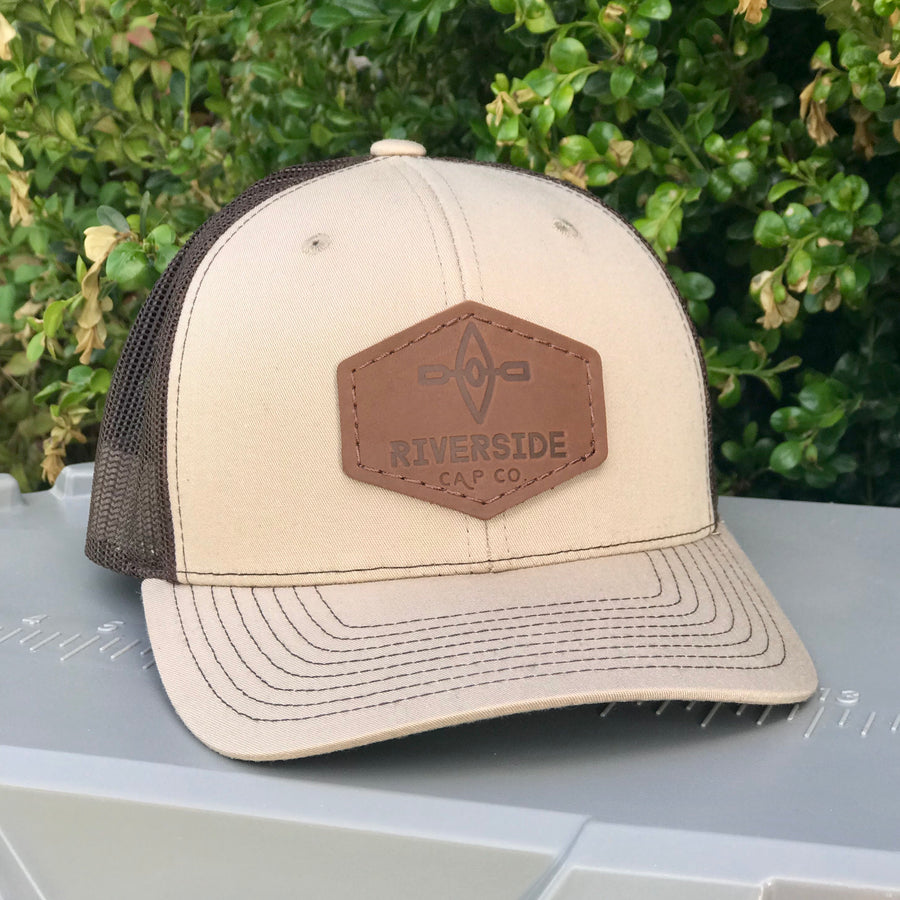 Original Leather Patch Hat (Khaki/Coffee)