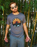 Fade away surf t-shirt, smoke gray with eco-friendly materials