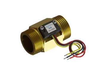 "1"" NPT Flow Meter with 10kOhm Pull-Up Resistor Included (3-wire)"