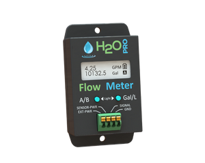 "Flow Meter with 3/4"" NPT Flow Sensor -  NEW Design! Longer Battery Life"