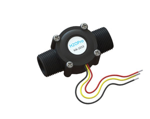 Flow sensor with 3/4 inch pipe thread fittings