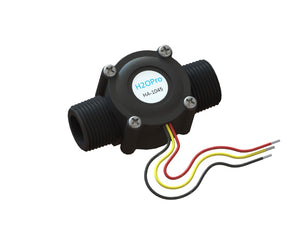 "3/4"" NPT Flow Meter with 10kOhm Pull-Up Resistor Included (3-wire)"