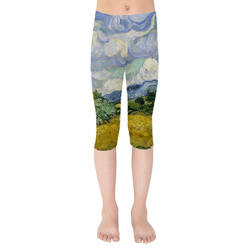 Vincent Van Gogh Fine Art Painting Kids Capri Leggings