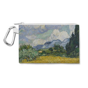 Vincent Van Gogh Fine Art Painting Canvas Zip Pouch - XL Canvas Pouch 12x9 inch - Multi Purpose Pencil Case Bag in 6 sizes
