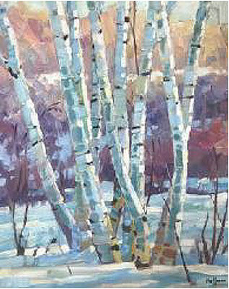 Winter Morning With Birches