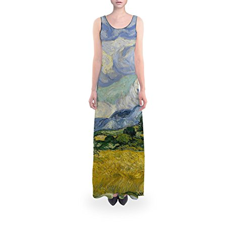 Vincent Van Gogh Fine Art Painting Flared Maxi Dress - XS Regular