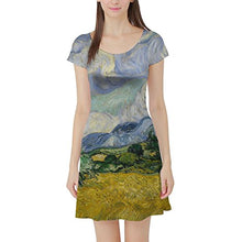 Vincent Van Gogh Fine Art Painting Short Sleeve Flared Skater Dress