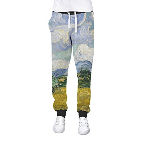Vincent Van Gogh Fine Art Painting Cuffed Joggers Sweatpants Jogging Bottoms