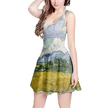 Vincent Van Gogh Fine Art Painting Sleeveless Dress XS-3XL Skater Stretch Flare Dress