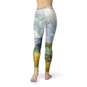Vincent Van Gogh Fine Art Painting Fleece Leggings for Women Sizes XS-3XL Fleece Winter Warm