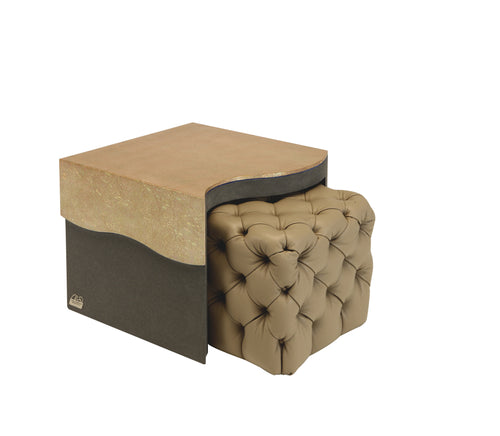 Onda Ceta Side Table with Extractable Bench