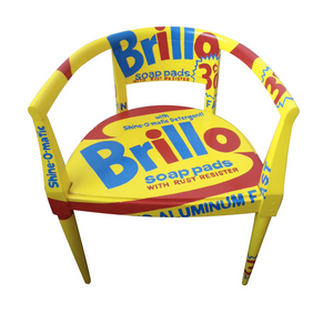 "Pop Art ""Brillo I"" Vintage Armchair"