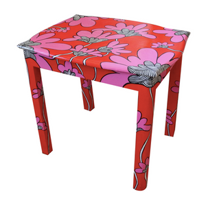 Flowered Painted Accent Table