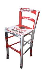 Campbell Tomato Soup Pop Art Wooden Stools