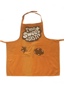"""I'm A Sweet Disaster"" Art Apron"