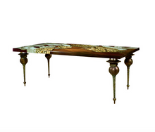 Evergreen Collection Constantine Decor Painted Dinner Table