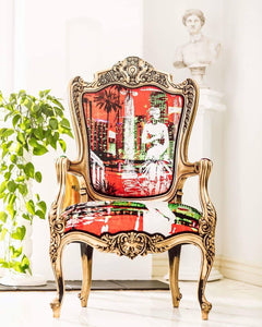 Red illusion Antique Chair