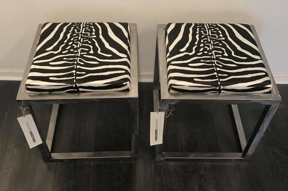 Wildlife Series Sleek Steel Velvet Stools