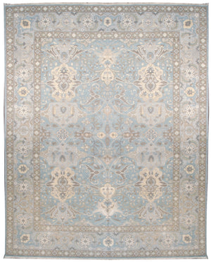 225471 - Transitional Rug (Wool and Silk) - 10' x 14' | OAKRugs by Chelsea high end wool rugs, hand knotted wool area rugs, quality wool rugs