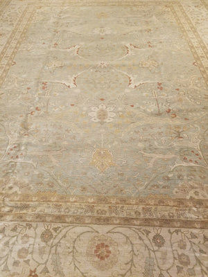23029 - Classic Tabriz Rug (Wool) - 12' x 15' | OAKRugs by Chelsea wool bohemian rugs, good quality wool rugs, vintage wool braided rug