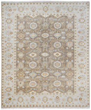 244505 - Transitional Tabriz Rug (Wool and Silk) - 8' x 10' | OAKRugs by Chelsea affordable wool rugs, handmade wool area rugs, wool and silk rugs contemporary