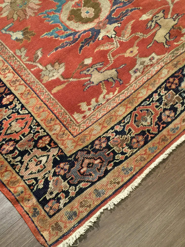 a100 - Antique Zeigler Rug (8'5'' x 11'10'') | OAKRugs by Chelsea high end wool rugs, hand knotted wool area rugs, quality wool rugs
