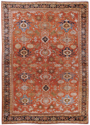 a100 - Antique Zeigler Rug (8'5'' x 11'10'') | OAKRugs by Chelsea affordable wool rugs, handmade wool area rugs, wool and silk rugs contemporary