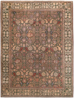 a104 - Antique Agra Rug (9' x 12') | OAKRugs by Chelsea affordable wool rugs, handmade wool area rugs, wool and silk rugs contemporary